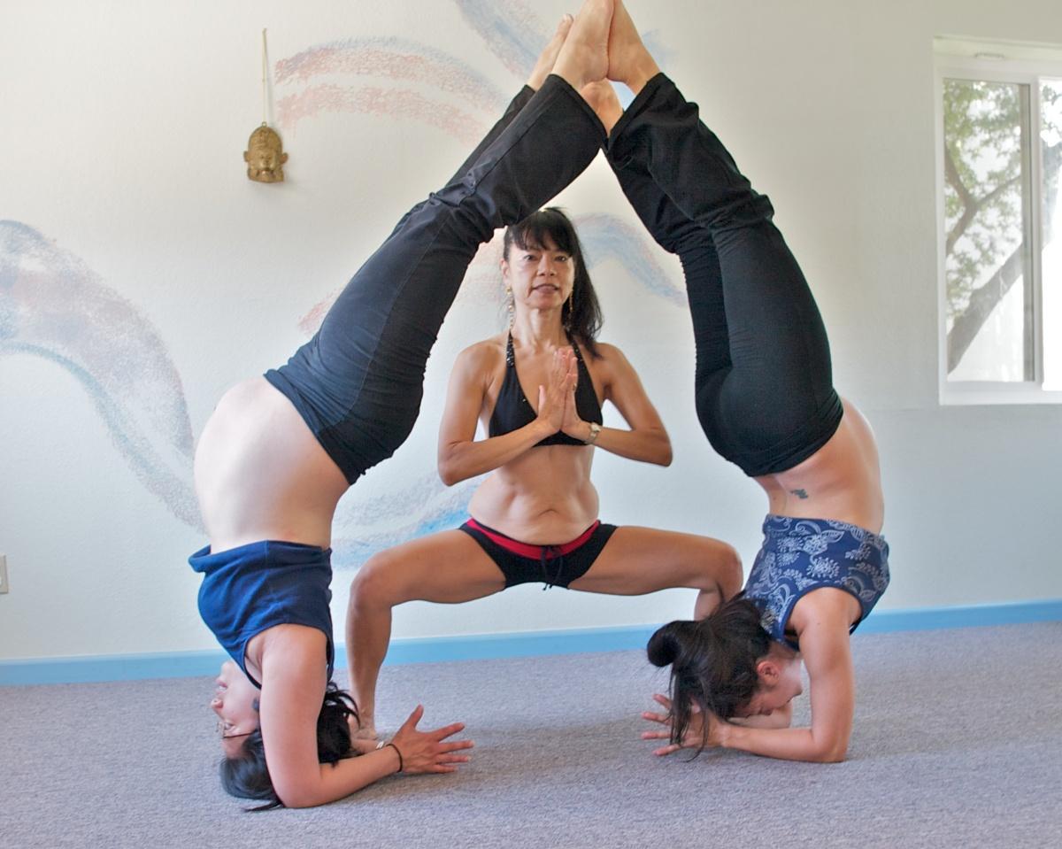 Prenatal Yoga Forearm Balance Partner Pose