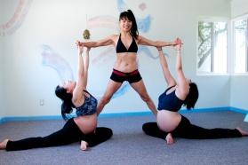 Prenatal Yoga Pigeon Partner Pose
