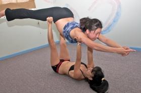 Prenatal Yoga Superman Partner Pose