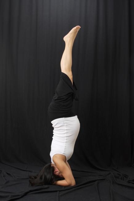 Prenatal Yoga Handstand Pose