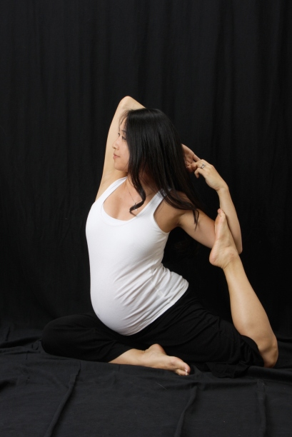 Prenatal Yoga Pigeon Pose