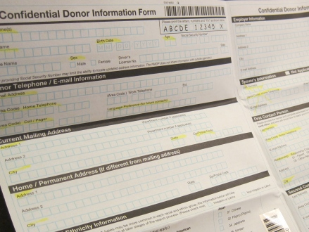 Be the Match Donor Information Form