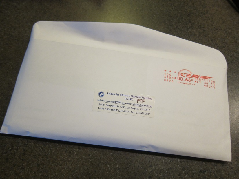 Be the Match Return Envelope