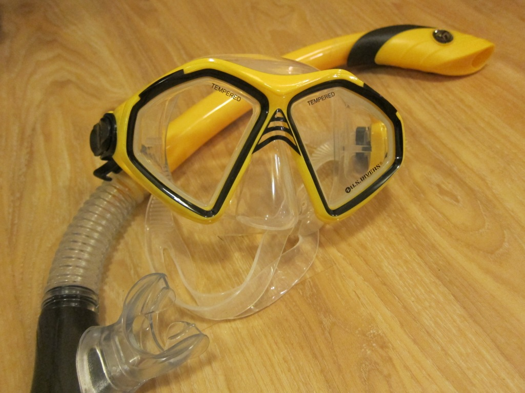 Scuba Diving Snorkel and Mask
