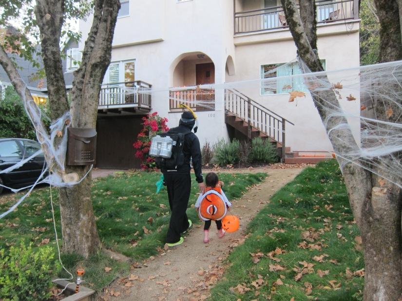 Halloween Costume Scuba Diver and Nemo