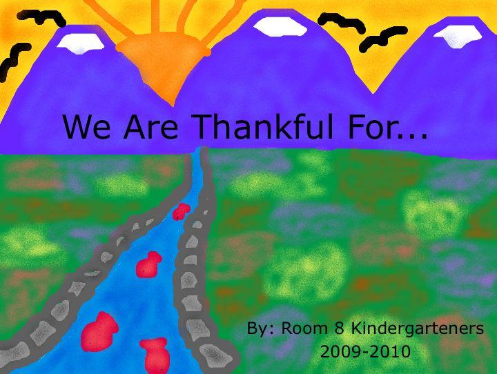 Thanksgiving Kindergarteners
