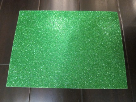 Michaels Green Sparkly Felt Sticker
