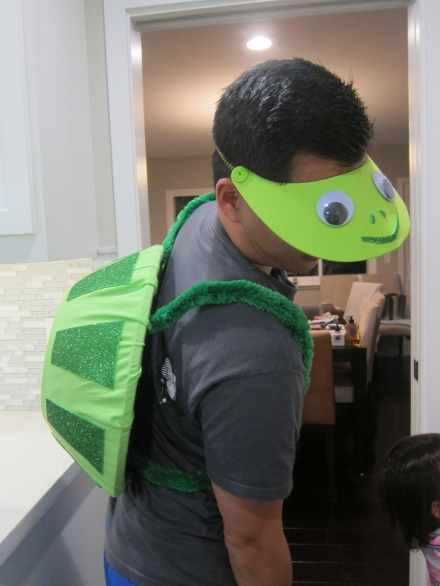 Halloween Family Costume Making a Turtle Shell and Head