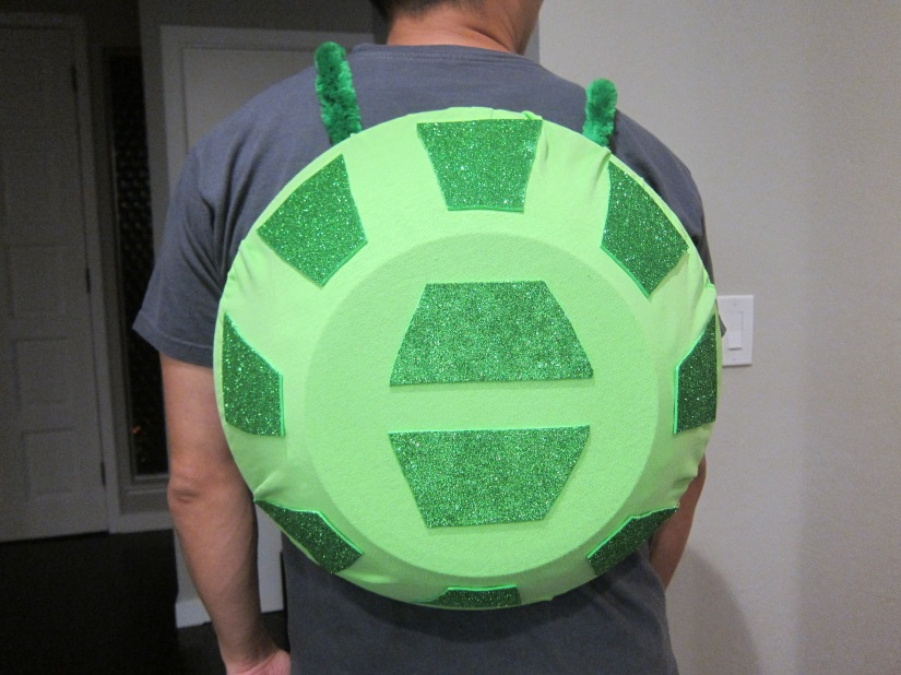 Halloween Family Costume Making a Turtle Shell
