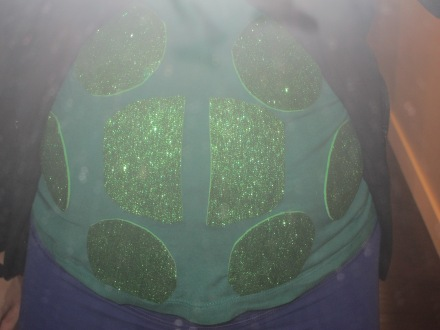 Halloween Pregnancy Costume Turtle Shell