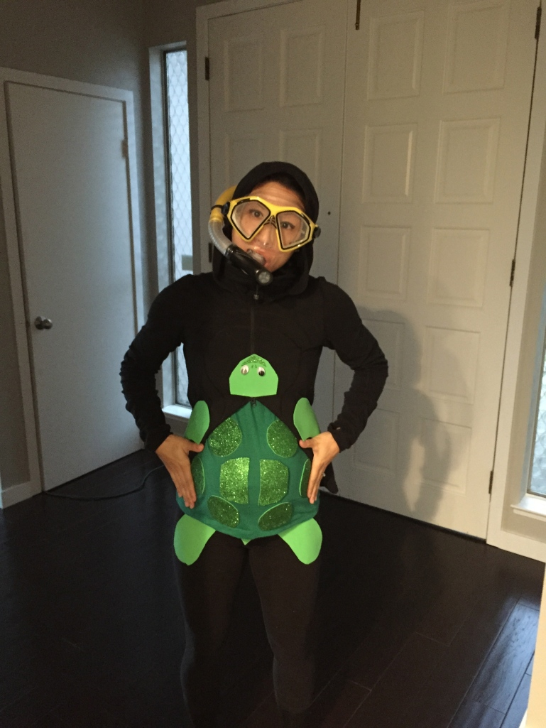 Halloween Pregnancy Costume Snorkler and Turtle