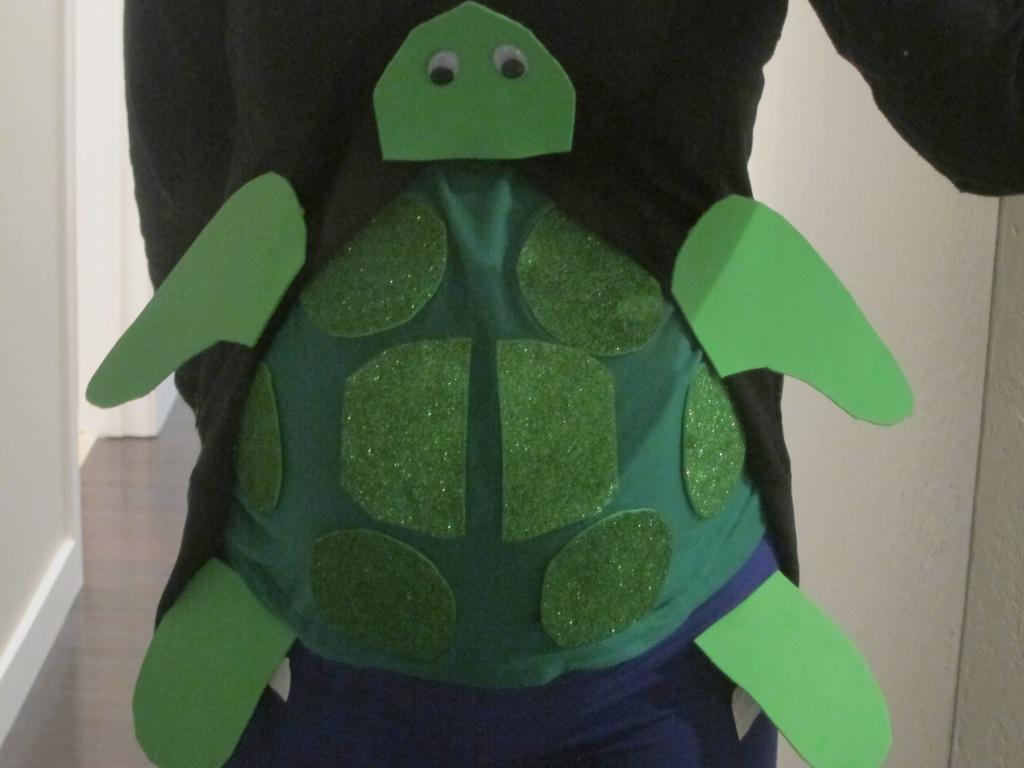 Halloween Pregnancy Costume Turtle Snorkler Diver