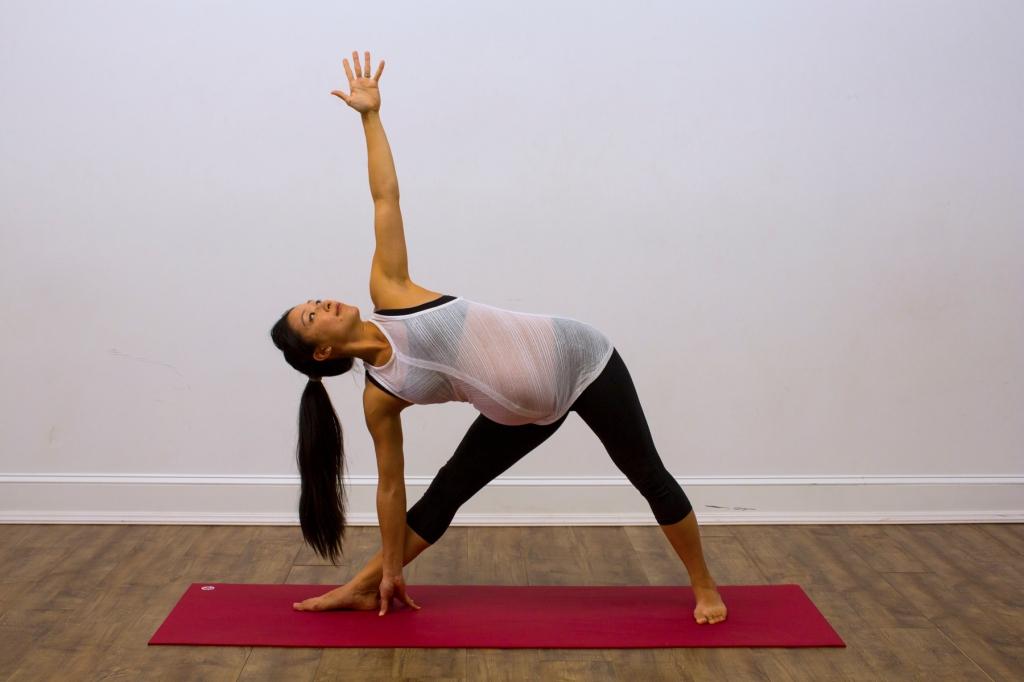 Prenatal Yoga Modifications Triangle