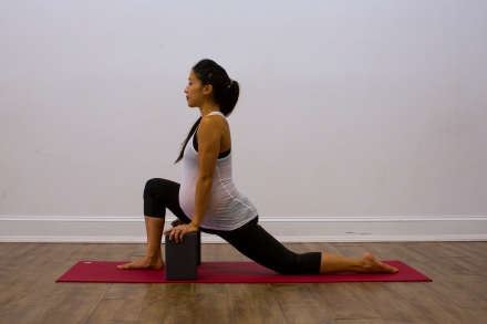 Prenatal Yoga Modifications  Low Lunge With Blocks