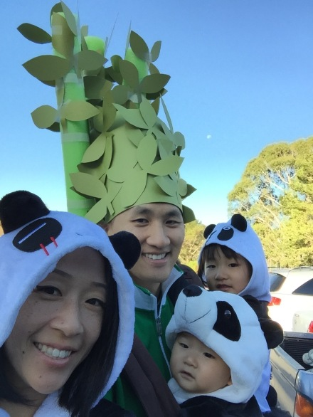 Panda and Bamboo Halloween Costume