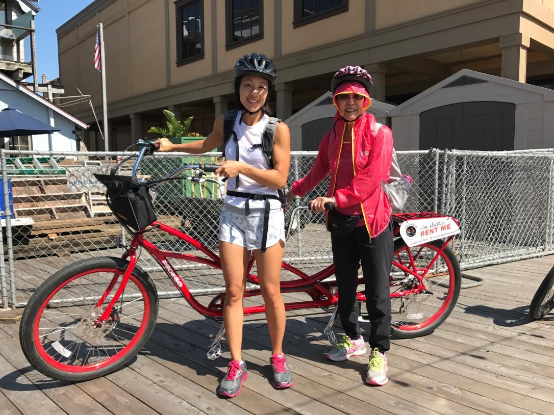 Tandem Electric Bike Around Angel Island