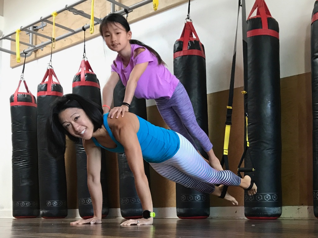 The Power With Grace TRX Plank  Core Strength Mother Daughter Exercise
